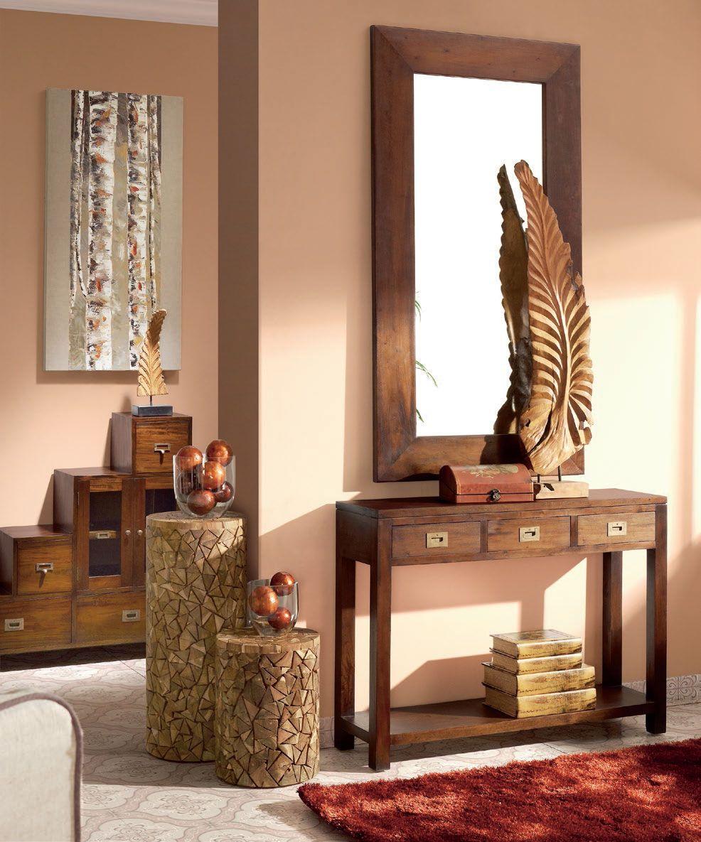 Recibidores De Estilo Colonial Http Www Artesaniadecoracion Com  # Muebles De Caoba
