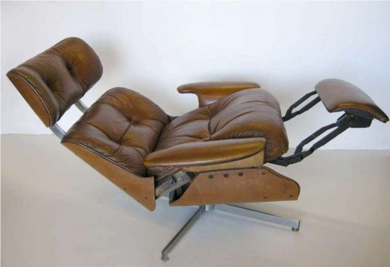 Groovy Mid Century Modern Recliner Leather Doma Kitchen Cafe Caraccident5 Cool Chair Designs And Ideas Caraccident5Info