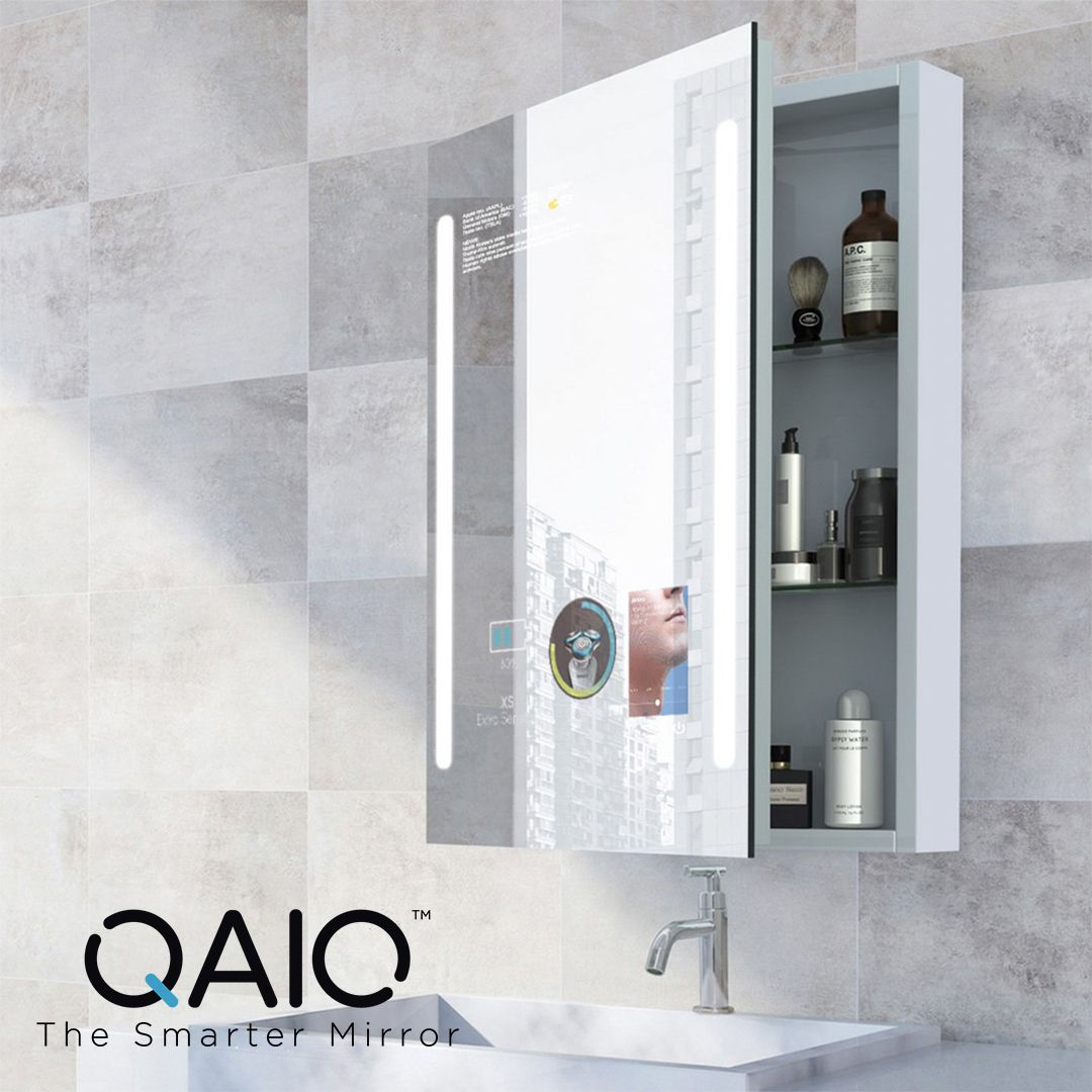Loaded With Smart Features Qaio Cabinet Mirror Also Gives You Lots Of Storage For Your Bathroom Es Rustic Bathroom Shelves Bathroom Design Bathroom Essentials [ 1080 x 1080 Pixel ]