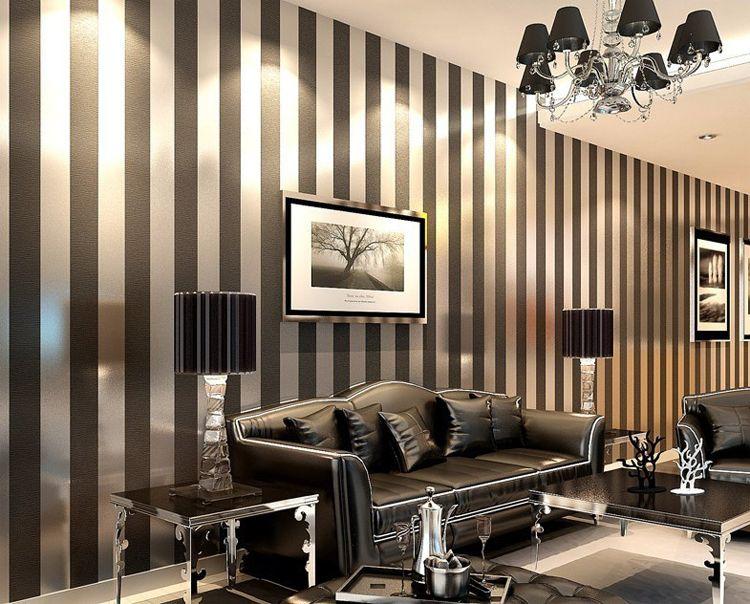 Font B Modern B Font Black Wallpaper Striped Purple And Silver Glitter Wall Paper Roll Jpg Striped Wallpaper Living Room Wallpaper Living Room Striped Walls #wallpaper #for #wall #living #room