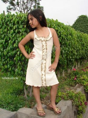 Weißes #Mädchen #Kleid mit Applikationen, #ökologische #Pima #Baumwolle, für Kinder vom 5. bis zum 10. Lebensjahr Unsere verarbeitete Pima Baumwolle ist naturbelassen und nicht chemisch gefärbt. Natürliche #Mode, freundlich zur Haut Ihres #Kindes und der Umwelt, aus #Peru