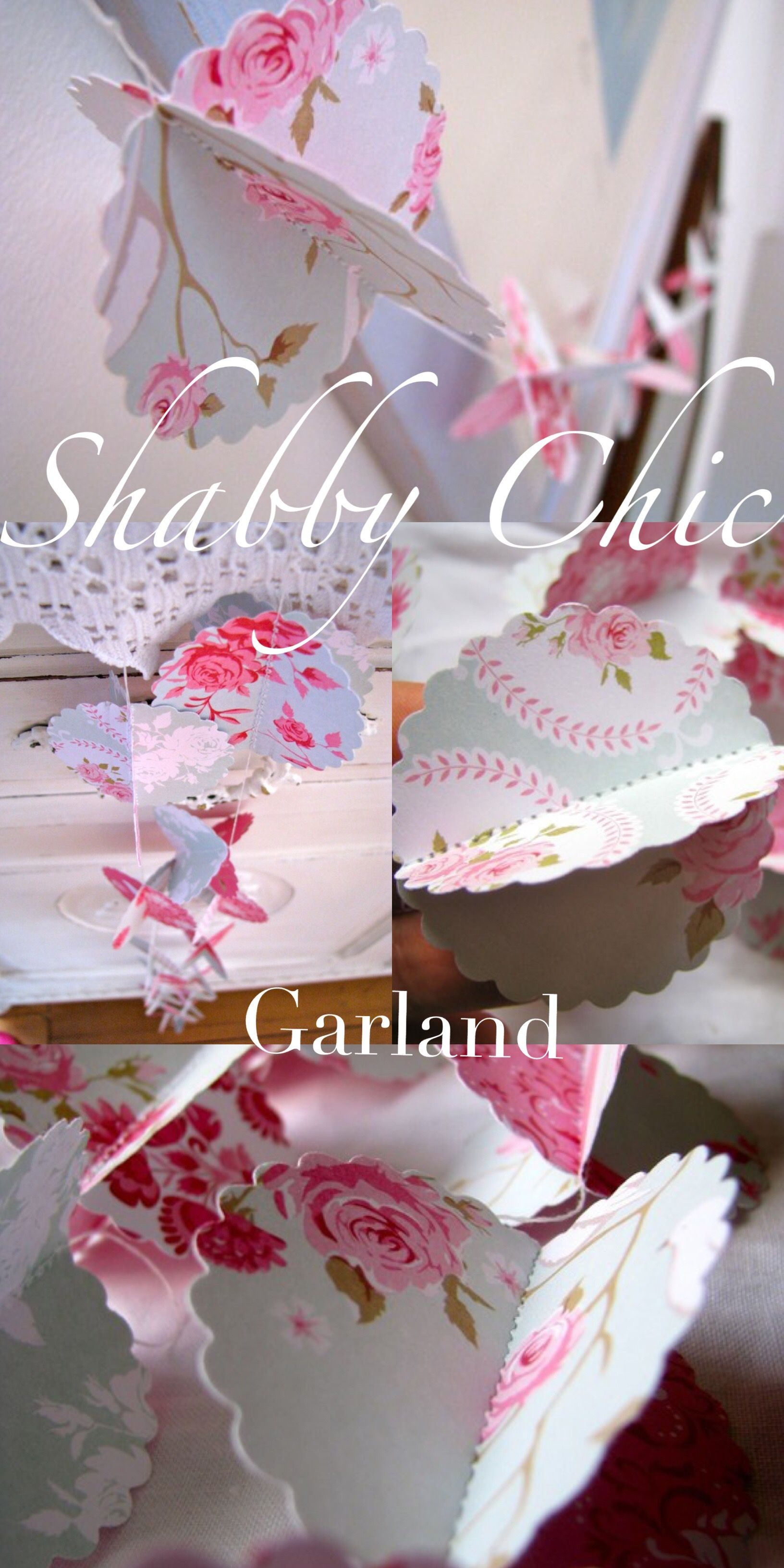 ad Beautiful shabby chic garland Party decorations Perfect for