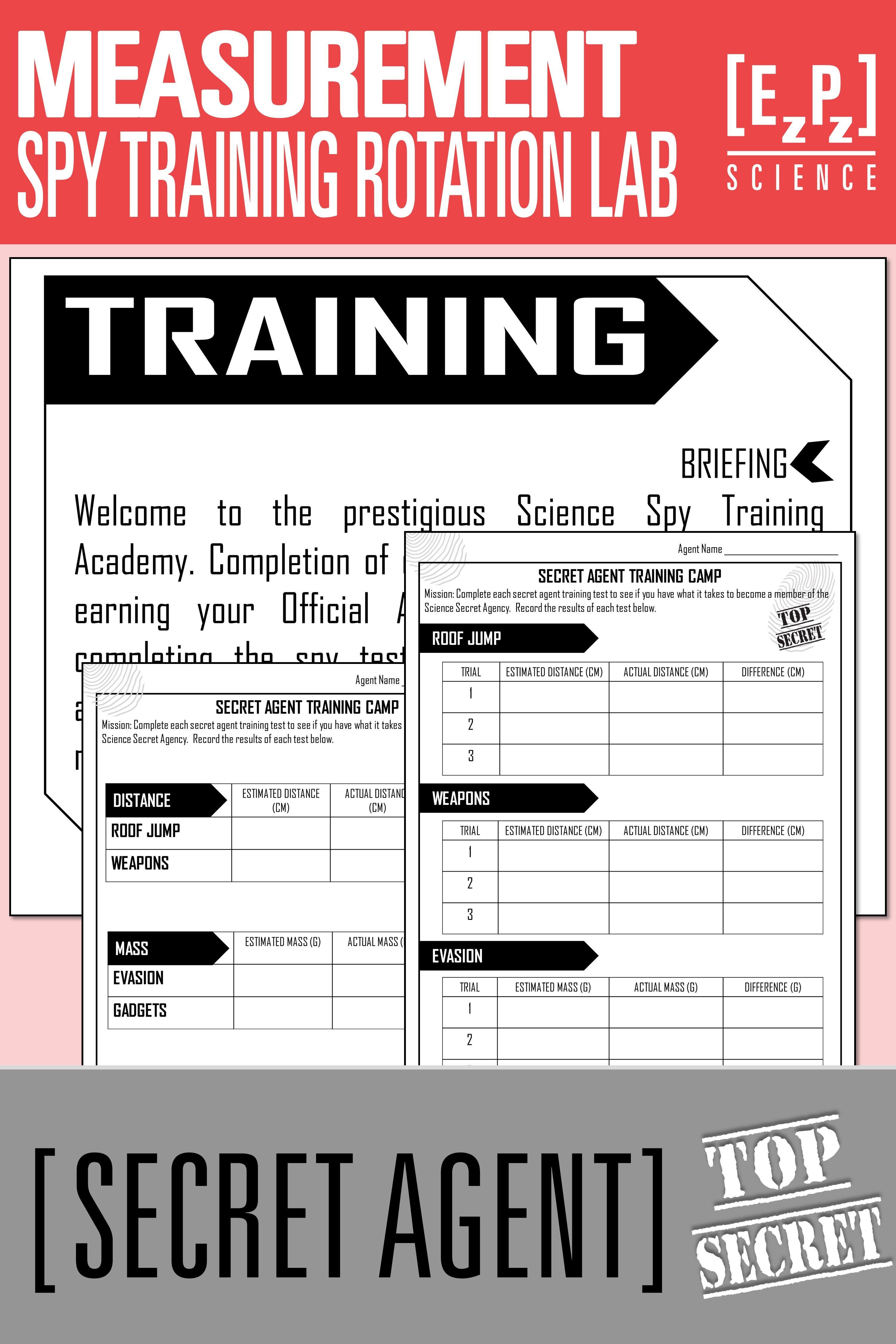 Science Measurement Rotation Lab Secret Agent Activity