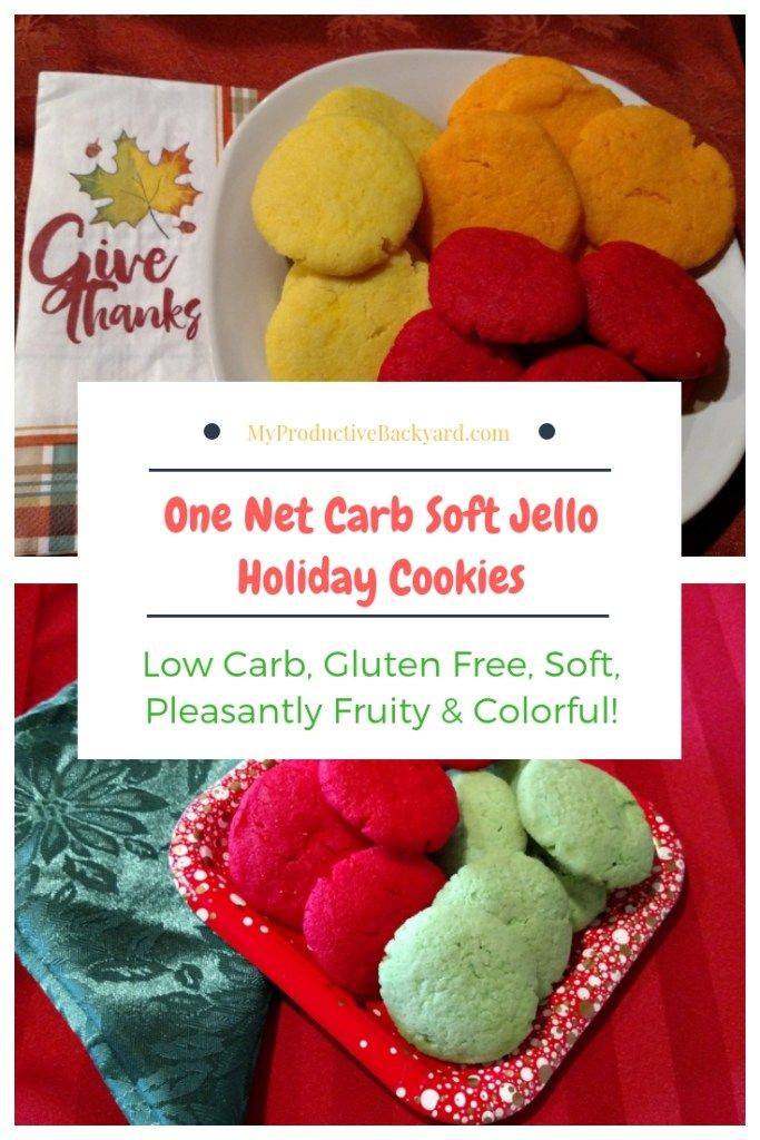 One Net Carb Soft Jello Holiday Cookies Recipe Holiday