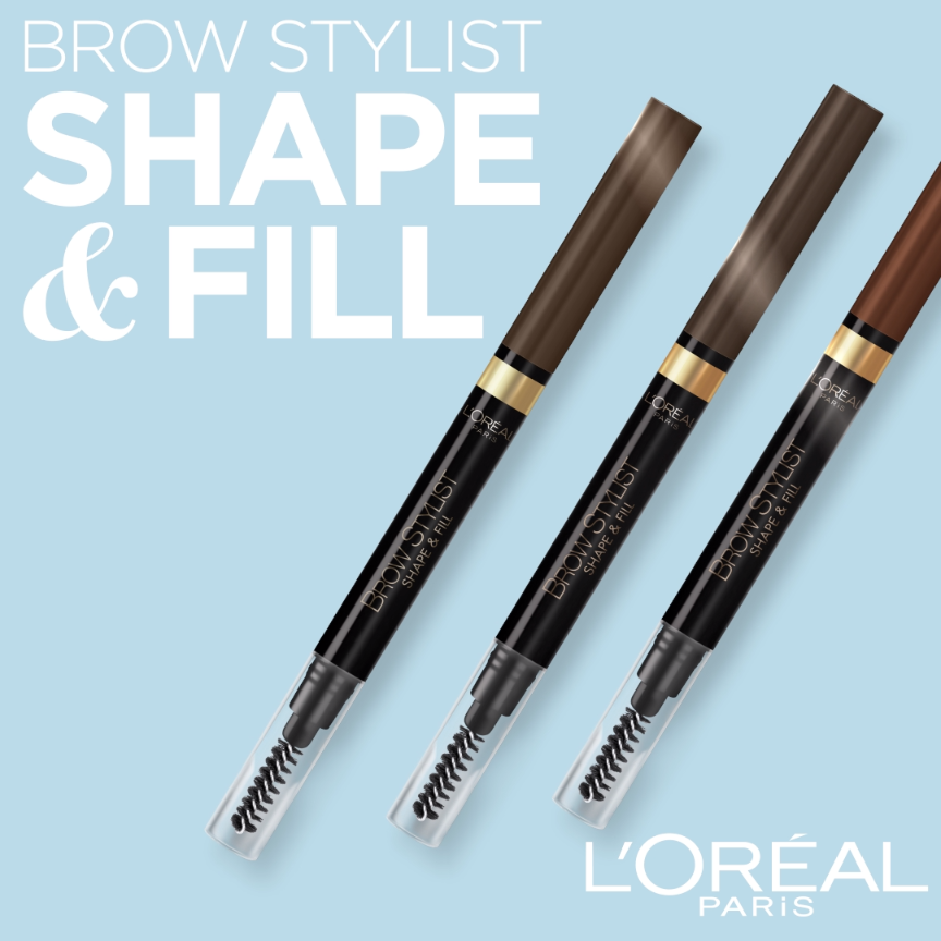 Photo of How to get fuller-looking brows with L'Oreal Brow Stylist Shape & Fill pencil.