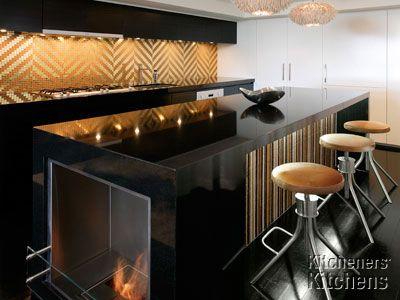 Super Sleek Black Gold Kitchen New Kitchen Designs Best