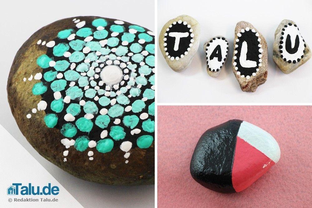 Steine bemalen u2013 5 schöne Motive und Vorlagen Steine Pinterest - bemalte mobel romantischen motiven