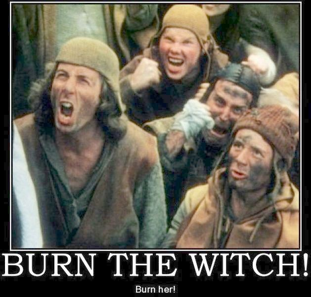 Image result for monty python witch burn her