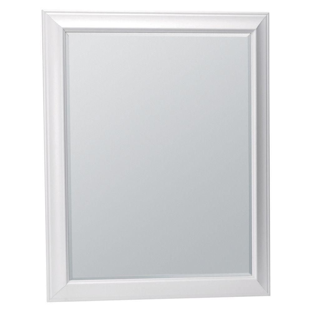 Glacier Bay Hampton 35 In L X 29 In W Framed Decorative Wall Mirror In White Mag3036 Wh The Home Depot Mirror Wall Decor Mirror Wall Mirror Decor