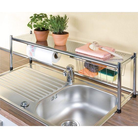 wenko sp lbeckenregal expando home kitchen pinterest kleine k che wohnung k che und haus. Black Bedroom Furniture Sets. Home Design Ideas