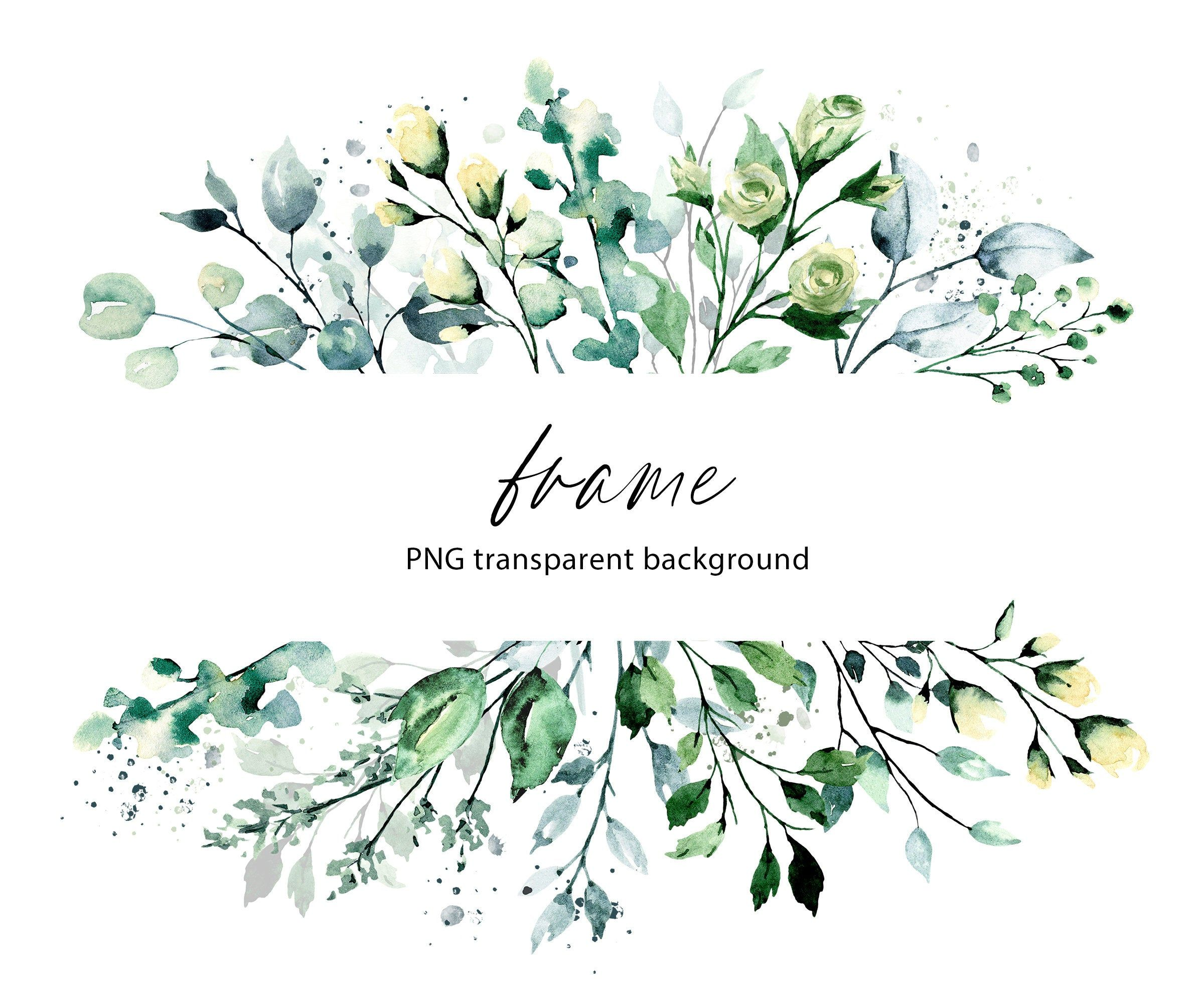 Leaf Frame Watercolor Leaves Clipart Foliage Border Floral Frame Png Transparent Background Aquarelle Clipart Free Commercial Use In 2021 Watercolor Leaves Leaf Clipart Clip Art
