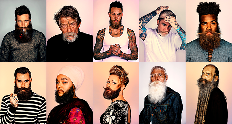 A series of portraits by photographer Mr Elbank in which all of the subjects sport a beard. London 5 – 29 March 2015