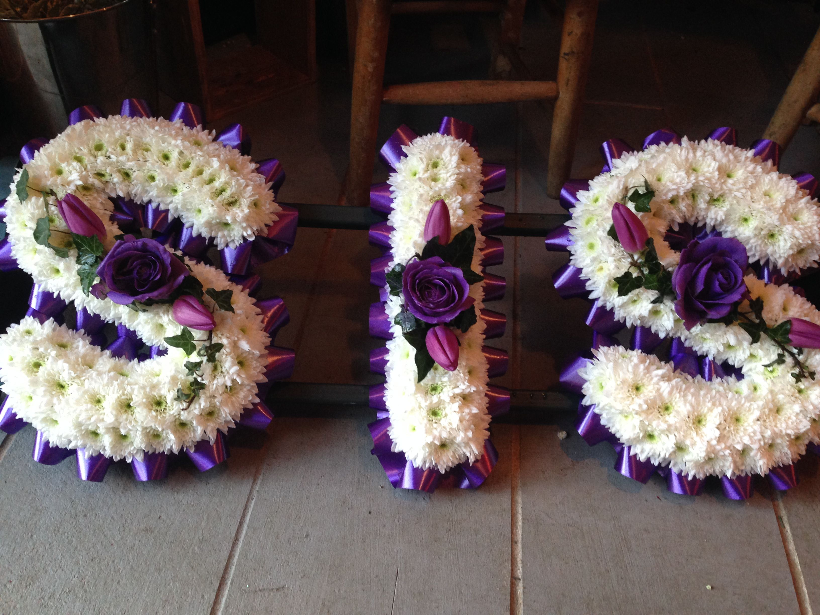 Funeral flowers sis funeral flower letter tribute cadbury purple funeral flowers sis funeral flower letter tribute cadbury purple and white stunning funeral izmirmasajfo Images