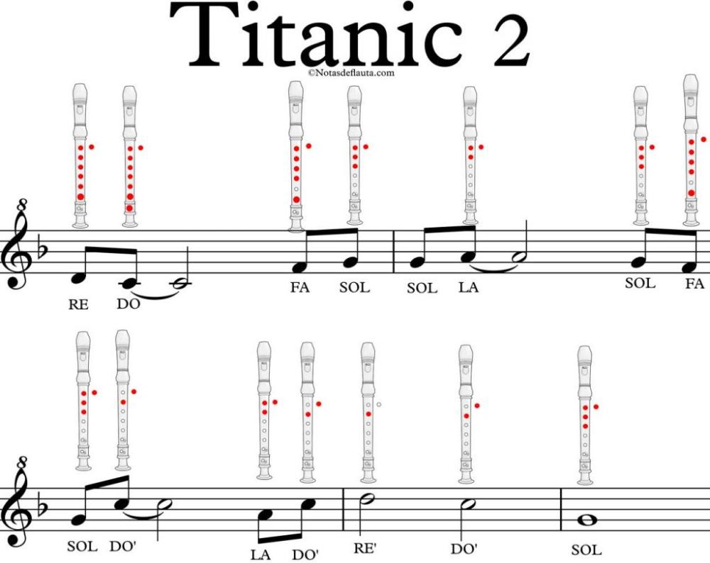 Titanic En Flauta Notas De Flauta Quieres Tocarla Notas Notas Musicales Canciones Románticas