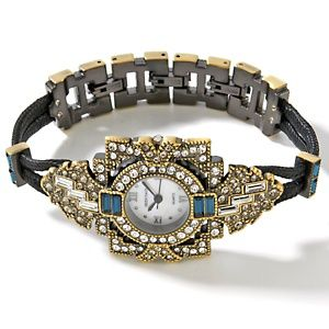 Heidi Daus Art Deco Framed Double Cord Watch at HSN.com.