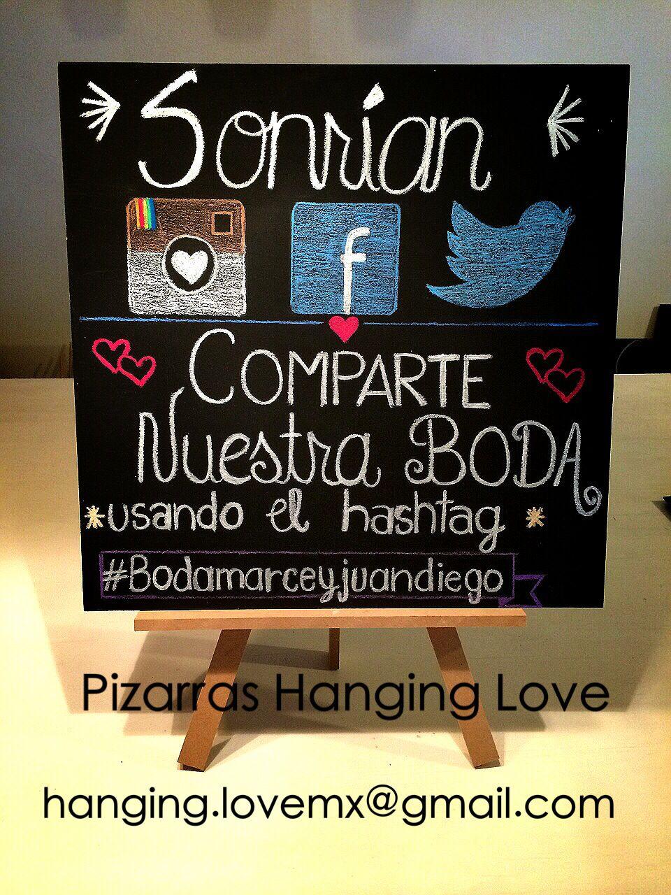 Pizarras Para Tu Boda By Hanging Love Pizarrones By Hanging Love  ~ Pizarras Magneticas El Corte Ingles