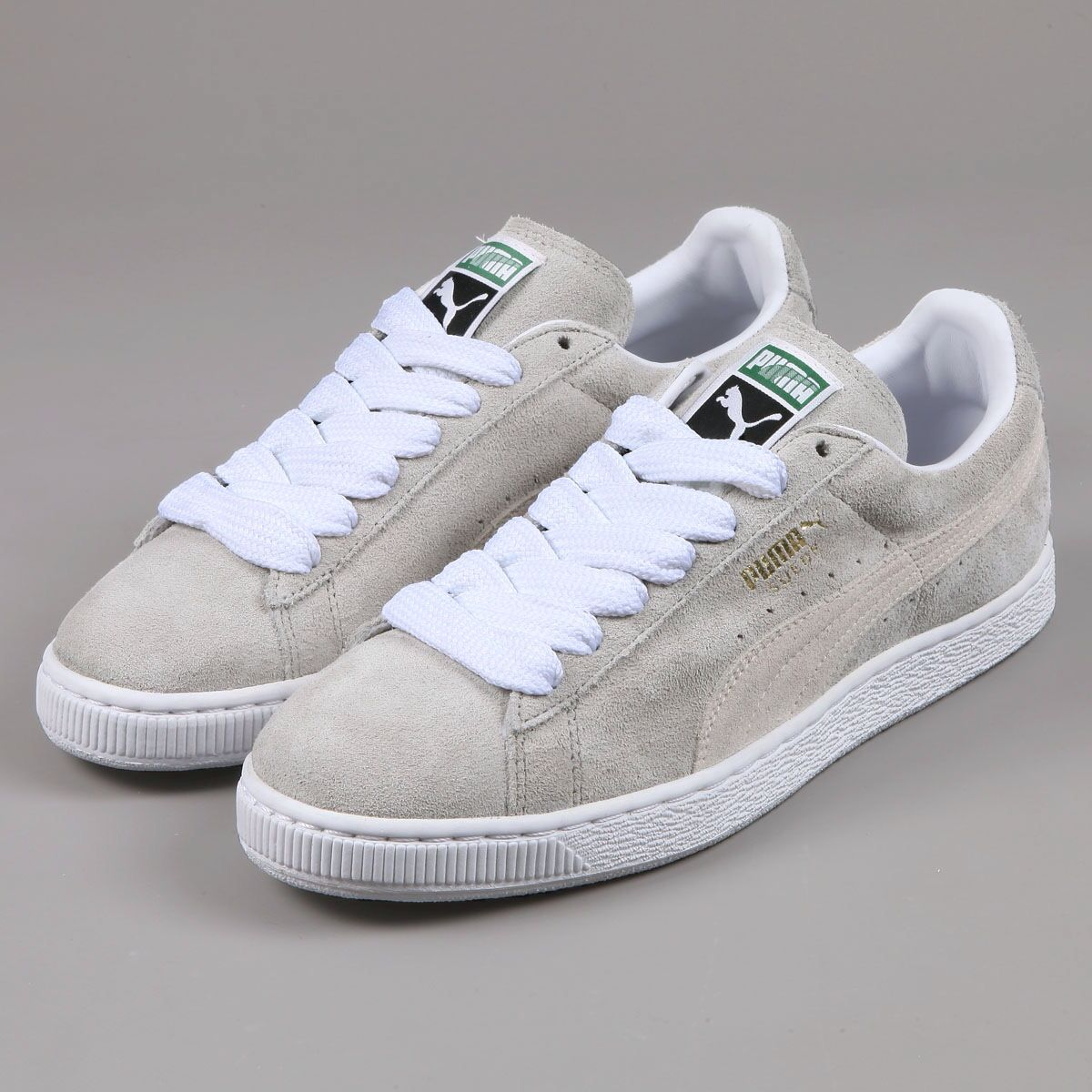 Light Grey Puma Suedes