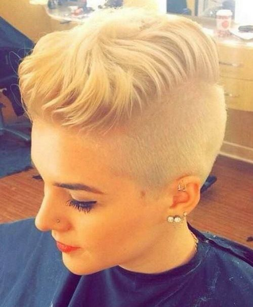 blonde shaved hairstyles 2017