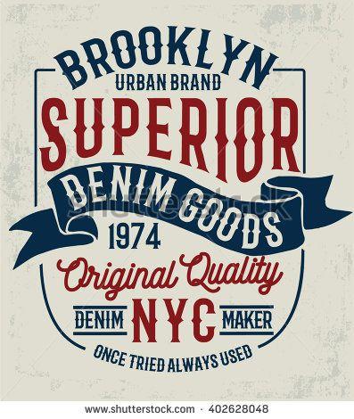 d922fd75 Vintage denim label design, t-shirt graphics, vectors | Type ...