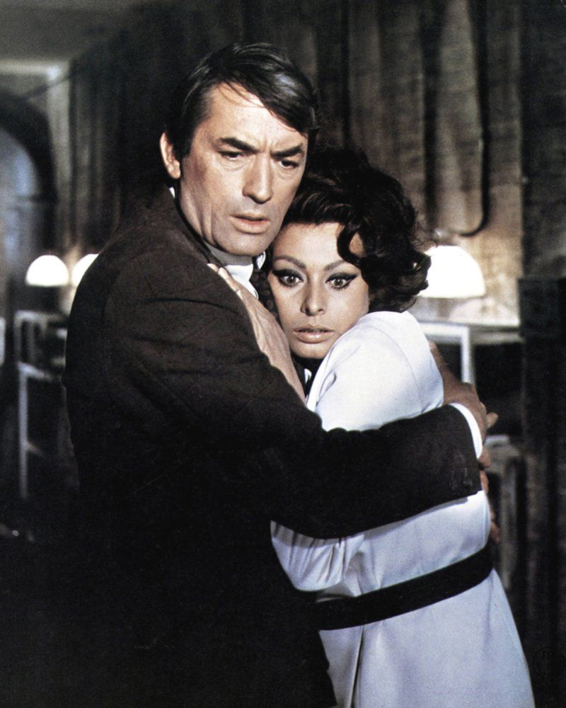 Sophia Loren and Gregory Peck in Arabesque (1966)