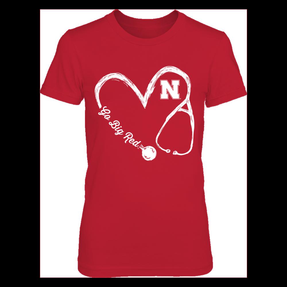 Nebraska Cornhuskers Nurse Drawing Stethoscope Heart 3 4 Nurse Drawing Texas Tech Red Raiders Nursing Shirts [ 1000 x 1000 Pixel ]