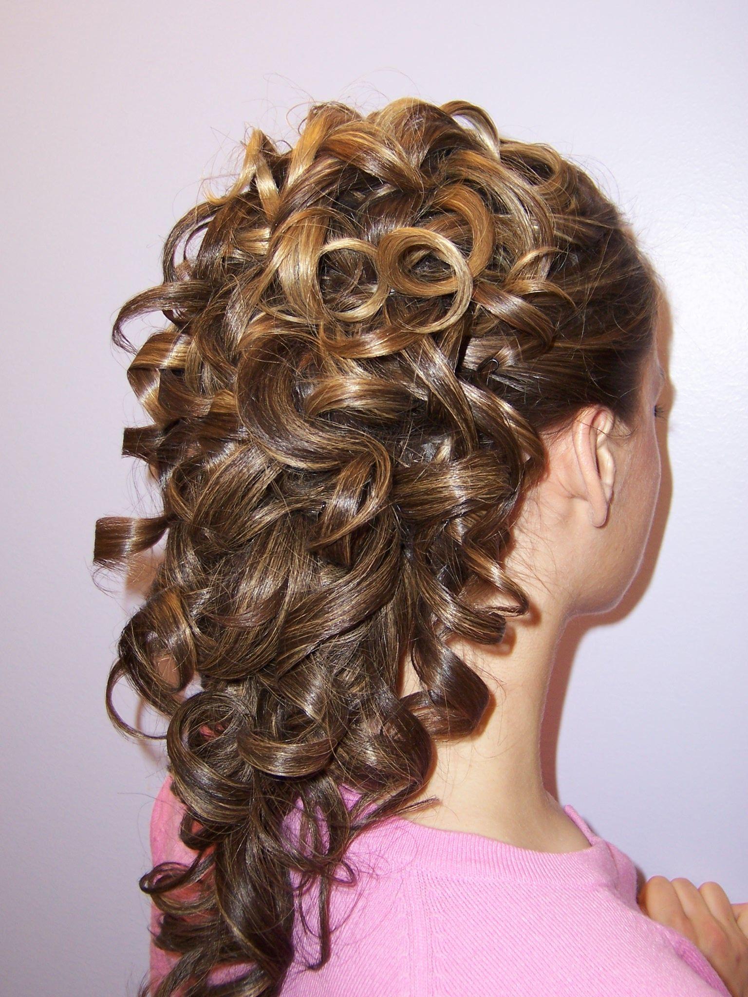 Cascading curls updo by kristen hudak hair styles