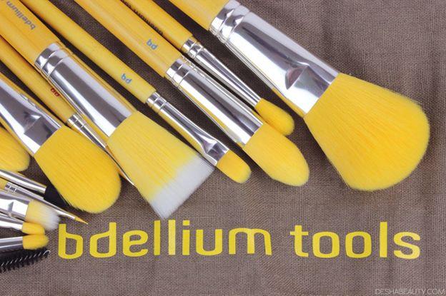 BDELLIUM TOOLS 15 PIECE BRUSH SET REVIEW, Yellow bambu