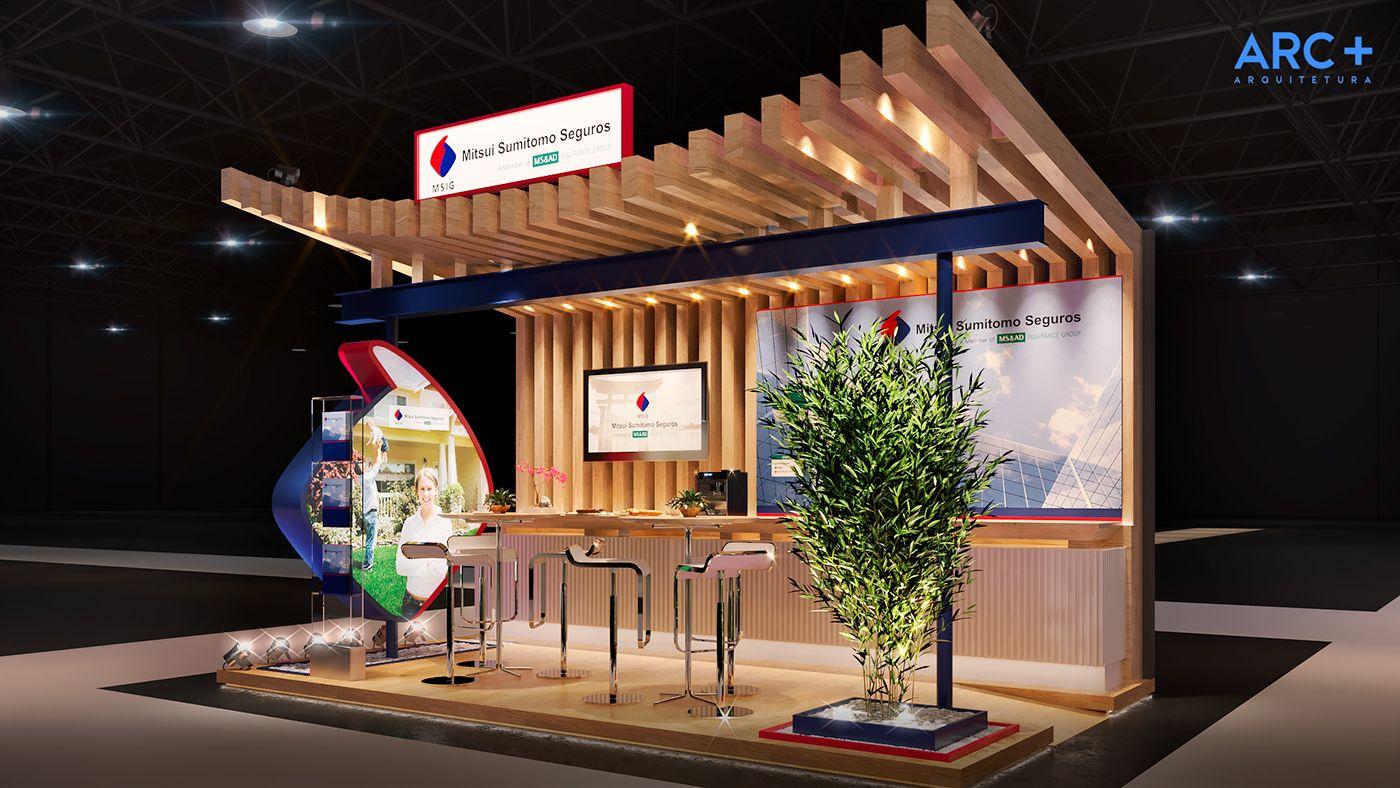 Exhibition Stand Insurance : Exhibit design for mitsui sumimoto insurance at trade fair brazil