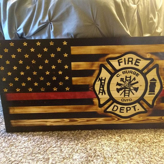United States Marine Corps rustic wooden flag Wooden