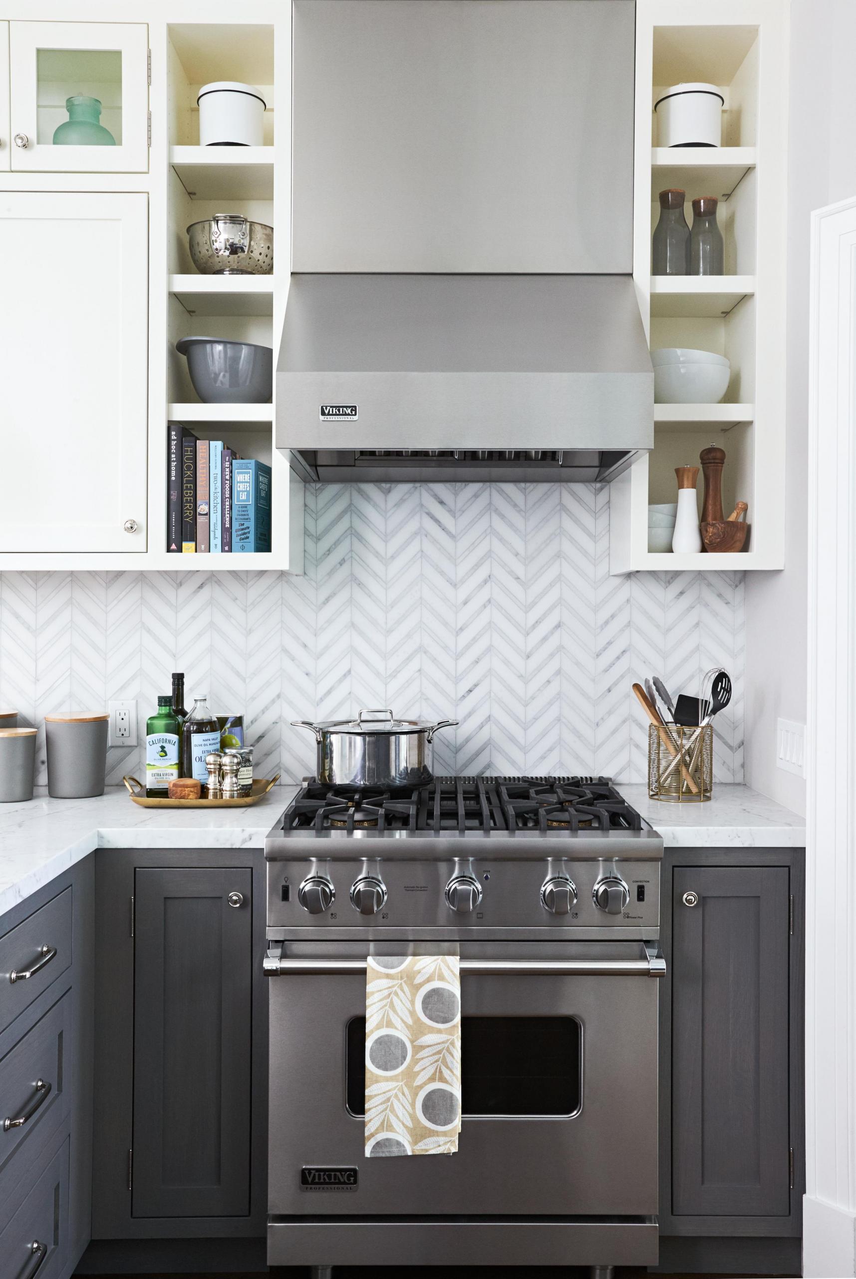 Elegant Gray Kitchen Backsplash Ideas In 2020 Unique Kitchen Backsplash Kitchen Backsplash Designs Kitchen Layout