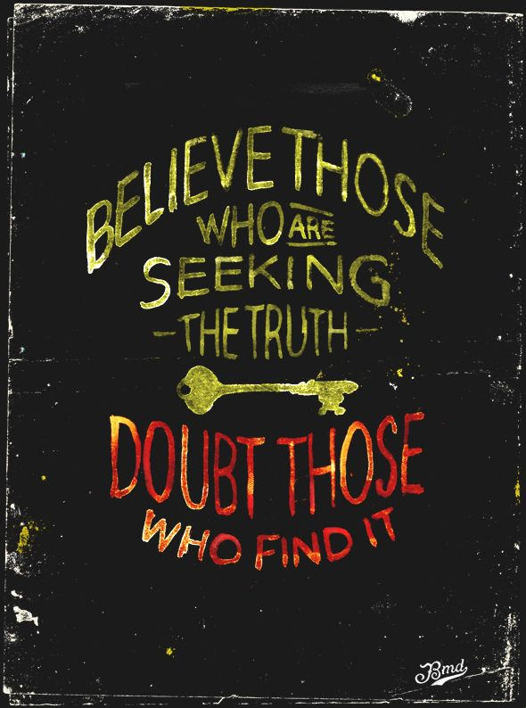 Doubt those who find it - bmd design