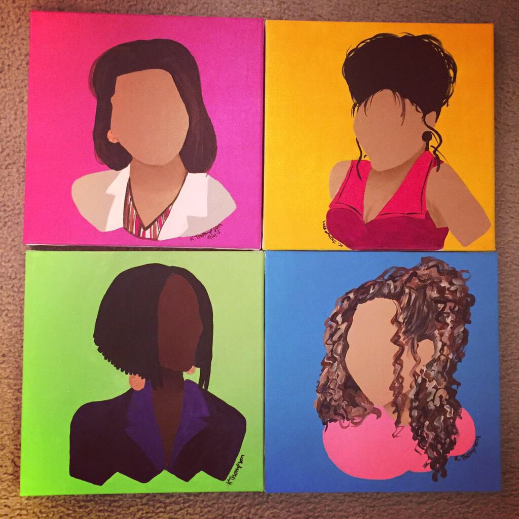 I Love This Painting Of Living Single So Creative