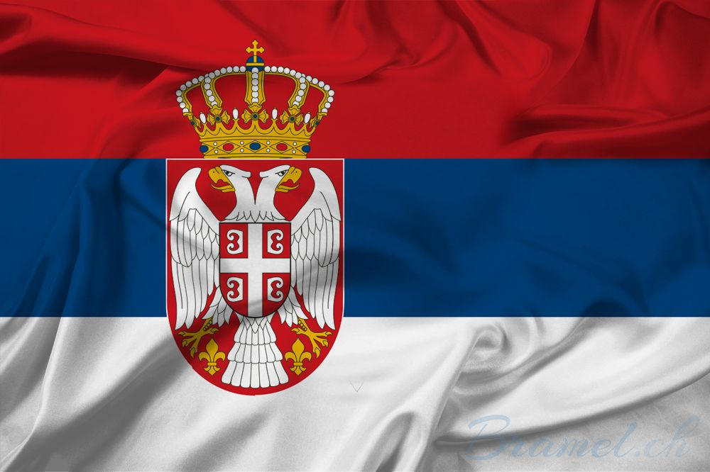 Serbische Flagge