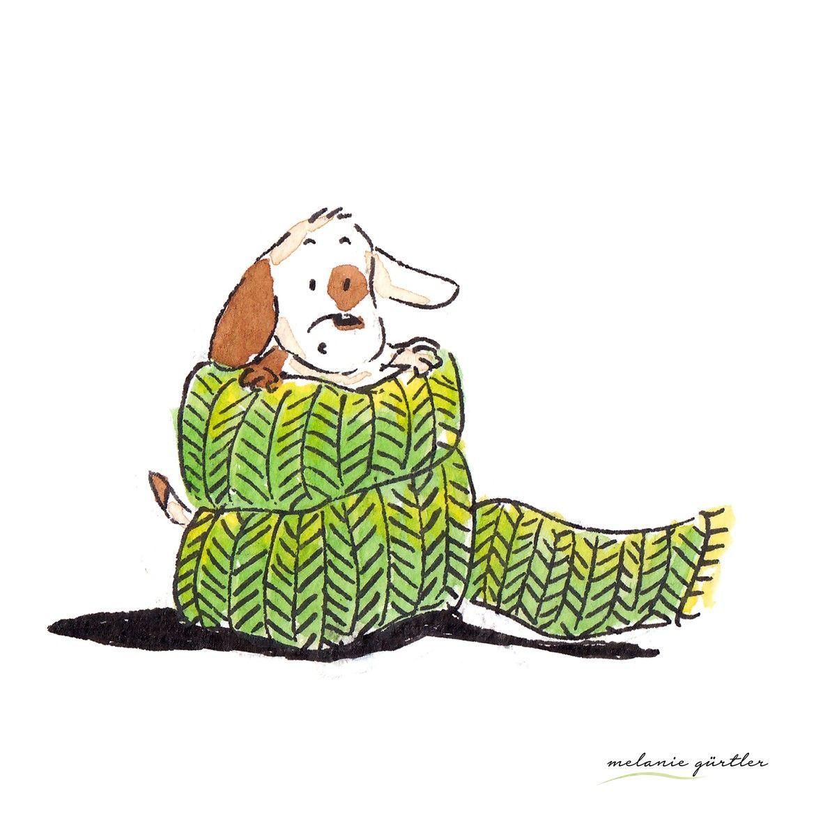 Kleiner Hund Melanie Gurtler Illustration Aquarell