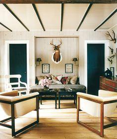 Modern  hunting lodge decor ...