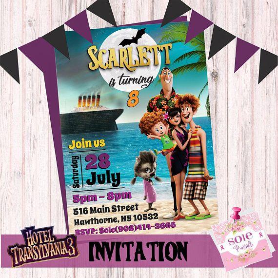 New Hotel Transylvania 3 Invitation Digital File No