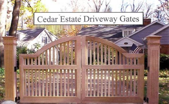 Cedar-driveway gates, estates gates red cedar. internal steel gates