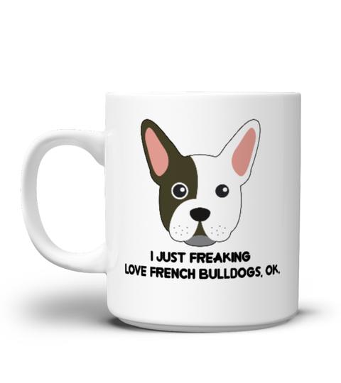 Cute Funny Gift Mug Dog Pet I Love French Bulldog