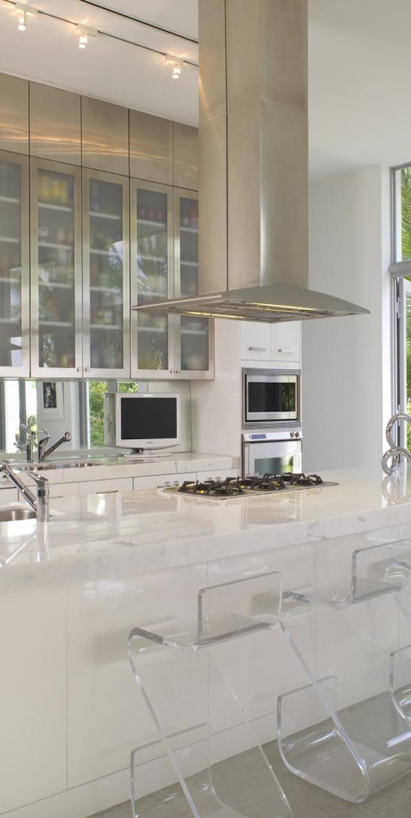 Brown Davis Interiors Villa Nirvana Miami Beach Scandinavian Kitchen Design White Modern Kitchen Stools For Kitchen Island