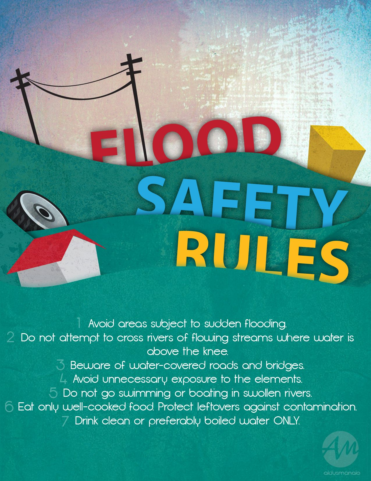Flood Safety Rules Infographics Flood Preparedness Flood