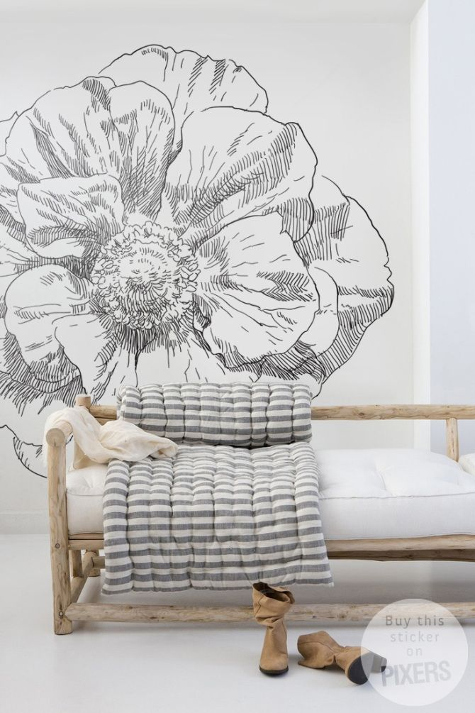 Amazing Wall decal Blooming flower by PIXERS <3 www.pixersize.com