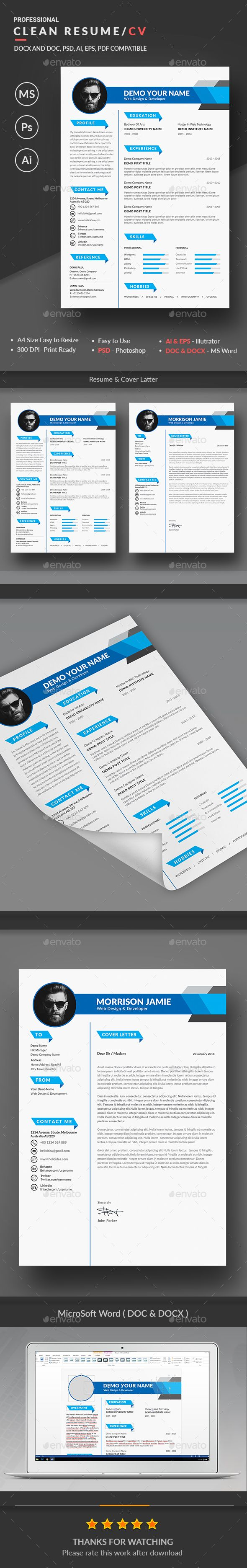 Porter Resume Brilliant Creative Resume Template Psd Vector Eps Ai Illustrator Ms Word .