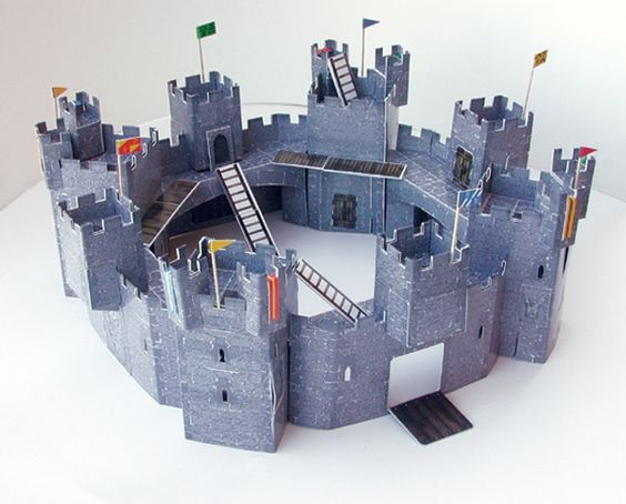 Homemade castle made out of cardboard castle goodies for Castle made out of cardboard