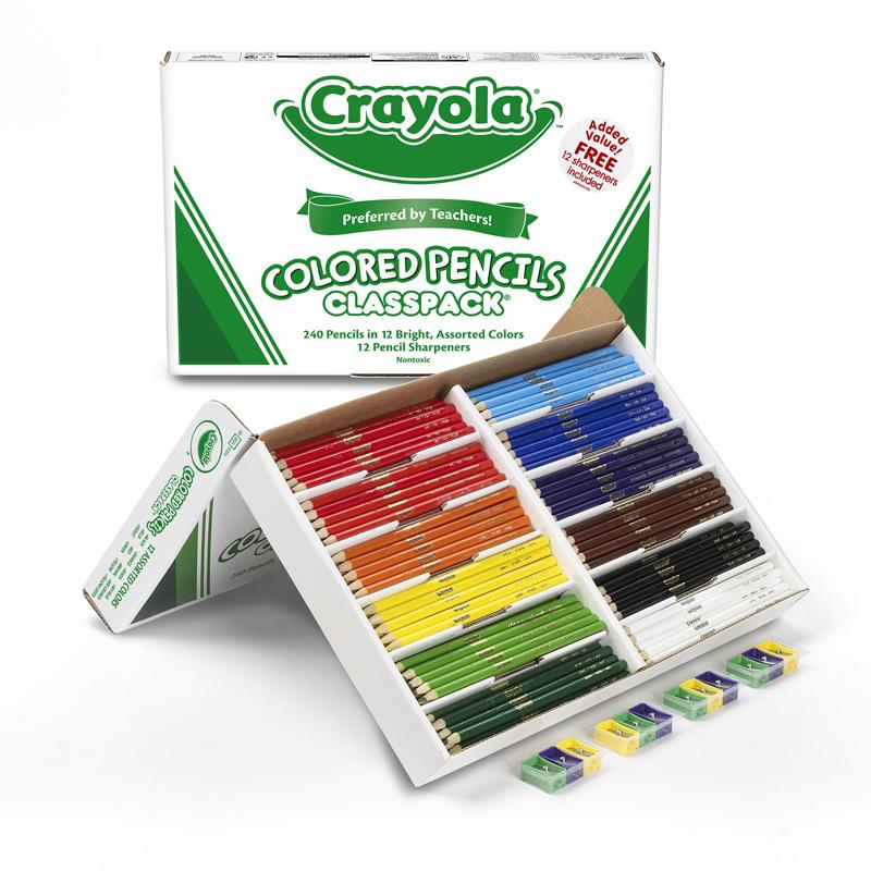 Colored Pencils 240 Ct Classpack 12 Products Crayola Colored