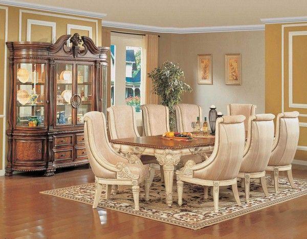 élégante salle à manger avec une chaise et une table de luxe orné ... - Chaise De Luxe Design