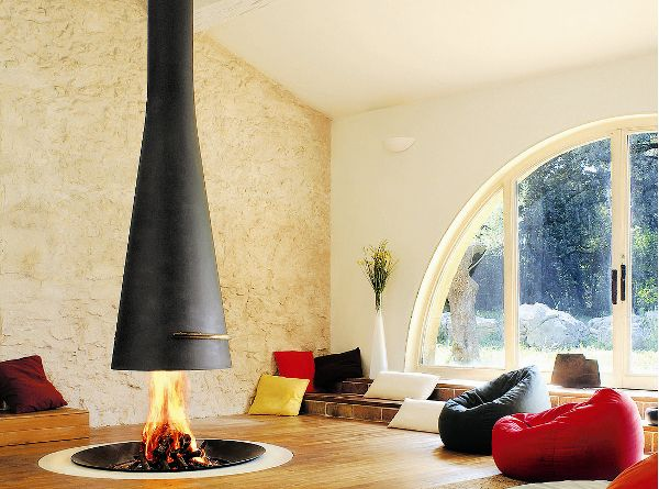 15 Hanging And Freestanding Fireplaces To Keep You Warm This