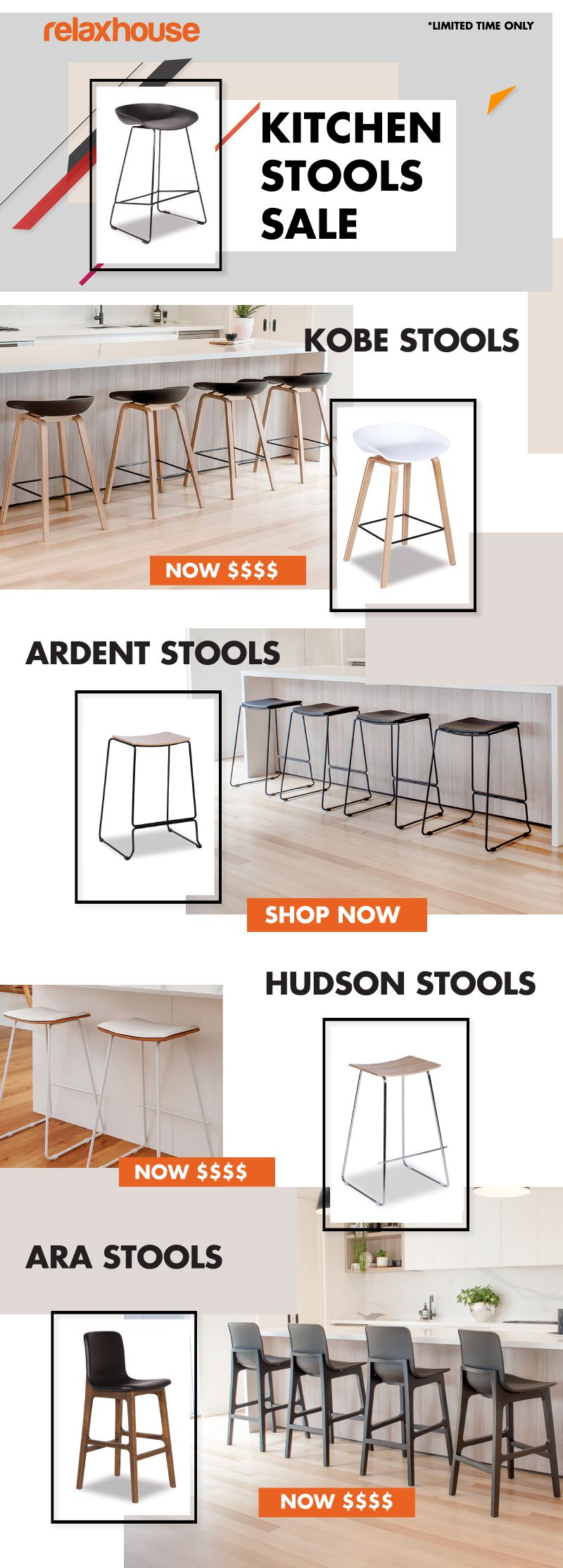 At Relax House, our kitchen stools and Modern breakfast
