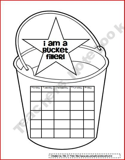 Bucket Filling Sticker Chart. Makes me think of my neice
