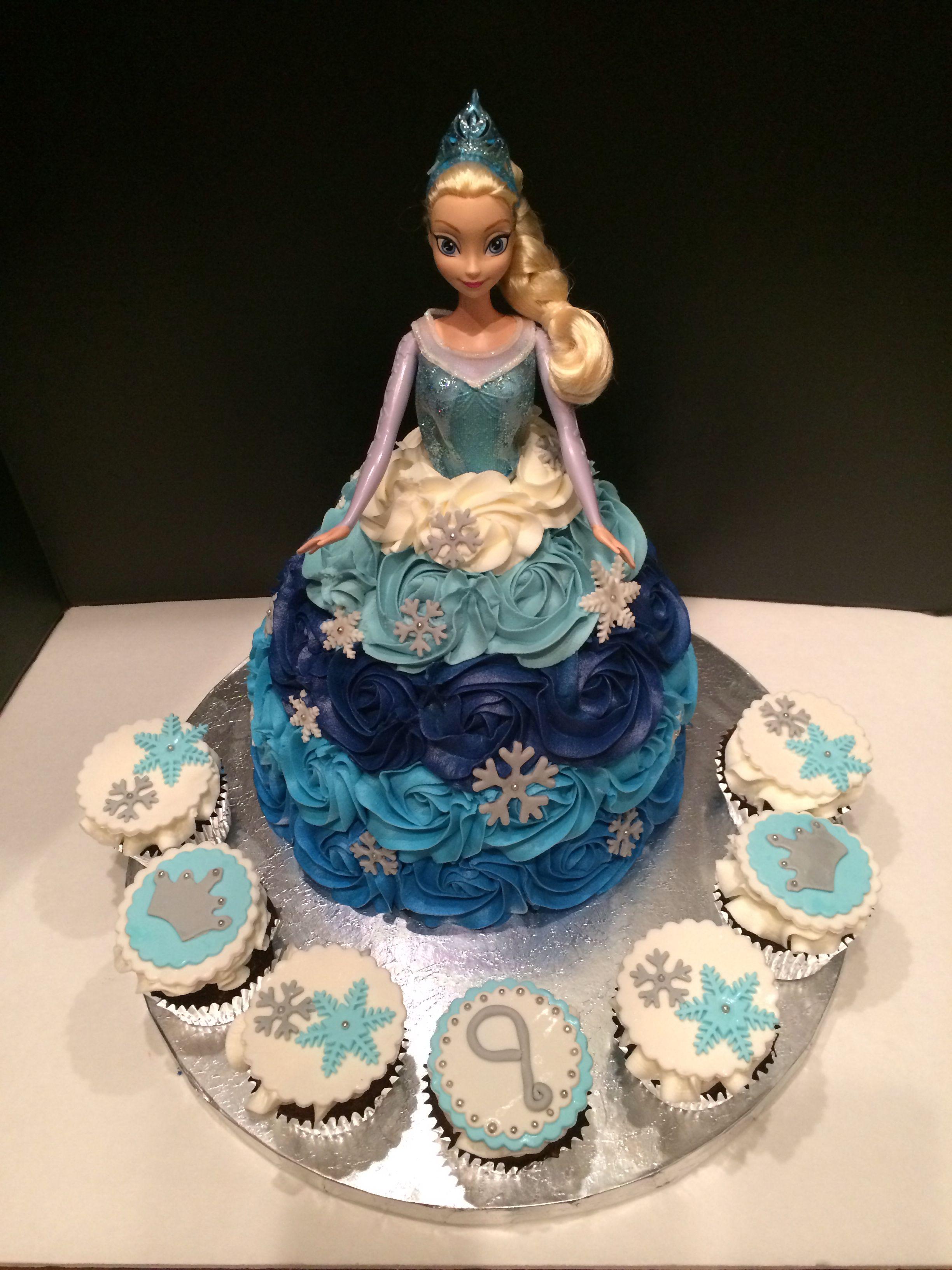 Frozen Elsa Doll cake by Cakes by Anna in Alpharetta Ga www