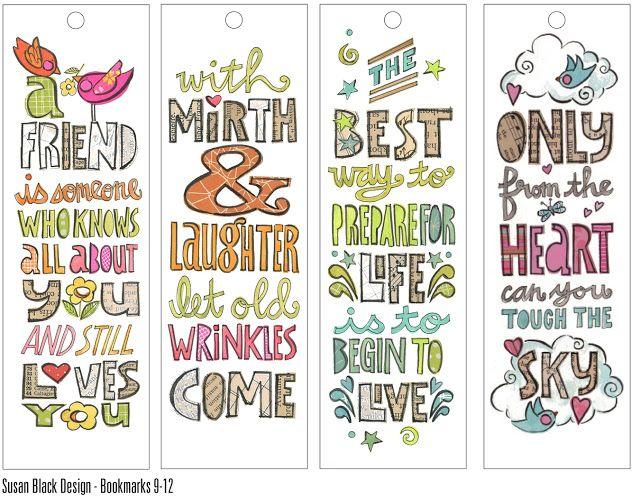 susan black design: A. bookmarks x 12 | typography | Pinterest ...